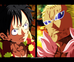 Luffy VS Doflamingo - One Piece #781 by JoeZart63
