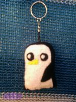 Adventure Time GUNTER  keychain by Dollface-RYJ