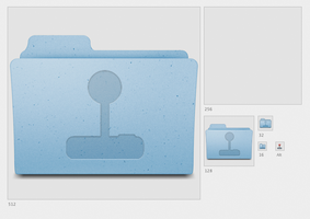 Games Folder icon for Mac OS by toruzz