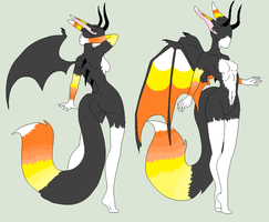 Anthro Adopt - Candy Corn Devil - SOLD by ShadowInkAdopts