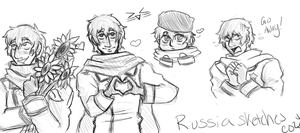 More Russia sketches by Flowercrowned-Otaku