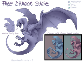 Free Dragon Base (With alternate versions) by Taluns
