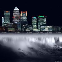 City Waterfall by JacqChristiaan