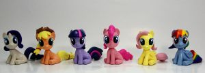 Pretty Little Mane 6 Filly Head Turner sculptures by MadPonyScientist
