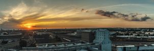 Sunset Panorama by 5isalive