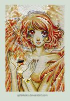 yell. star angel -ACEO Nr. 178 by Apfelkeks