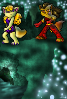 Cat Fight - The Caverns by PrettyKitty13
