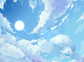 Mega Altaria : Endless Skies by harikenn