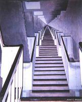 stairway painting in stairwell by RobMitchem