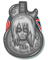 80s Rock-Metal Badge by KinkySkull