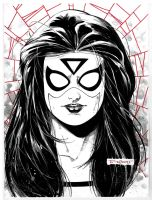 Spider-woman sketch LBCC by aethibert