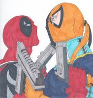 Deathstroke vs Deadpool: Round 2 by RobertMacQuarrie1