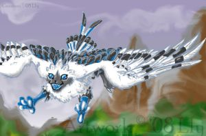 Fakemon - Flying Eeveelution by ParticleSoup