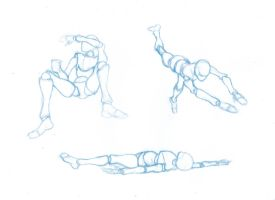 Pose Studies 3 - References from Mixamo by BBstudies