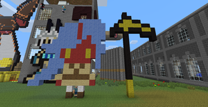 Chibi Pixel Kneesocks In Minecraft by N00gster
