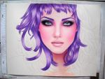 PURPLE HAIR W.I.P by AngelasPortraits