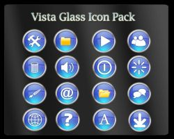 Vista Glass Icon Pack - ICO by sreeejith