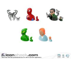 Spiderman Web Icons by Iconshock