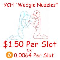 Wedgie Nuzzles (YCH) by Wedgie-Fox