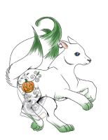 +3 Tailed Pumpkin Wolf+ by rockandtree