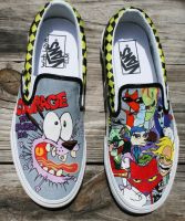 Courage the Cowardly Dog Vans by dancinghotdogs89