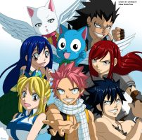 Fairy tail eternal fellows -colour-. by Honda-Thoru
