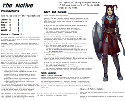 Persona Sheet Prototype - The Native by Thrythlind