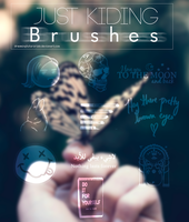Just Kidding Brushes by DreamingTutorials