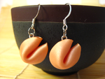 Fortune Cookie Earrings by lava-tomato