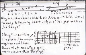 Music Notes in a Moleskine by ForgetfulRainn