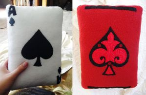 Ace of Spades Pillow Plush by P-isfor-Plushes