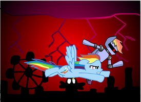 Rainbow Dash Vs. R-Dash 5000 by segajosh3
