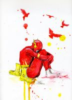 Depressive Flash by lora-zombie