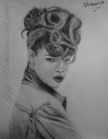 Rihanna drawing by lyyy971