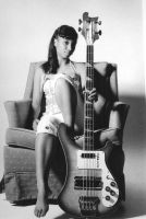 Bass Guitar and Girl by Batced