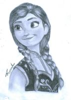 drawing of anna from frozen by praneeth388