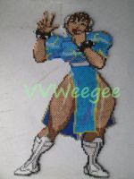 Chun Li 3rd strike Bead sprite Ironed by VV-Weegee