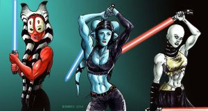 Jedis and Sith by Dracowhip