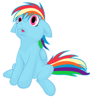 Filly Rainbow Dash by Sweet-Sugar-Cube