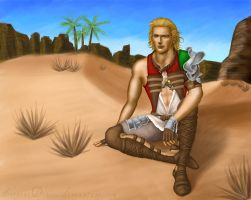 Resting at the Estersand by serpentdoness