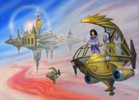 A Princess of Saturn by AlanGutierrezArt