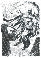 Graveyard Batman - Inks by JoelPoischen