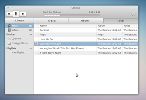 Sangita - Linux Music Player by awhite92