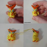 Victini Charm by ChibiSilverWings