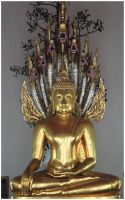 Golden Buddha Statue by K-Tak