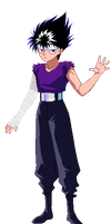 Hiei- High Def sprite by thanewdude07