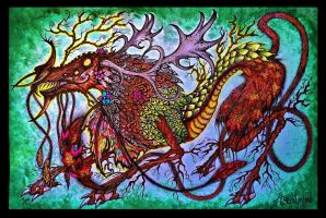 The Forest Dragon by AstralMimi