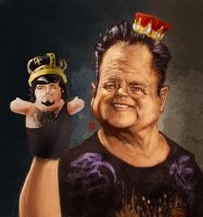 WWE Jerry The King Lawler by KhasisLieb