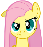 Fluttershy with straight hair. by FreeFraQ