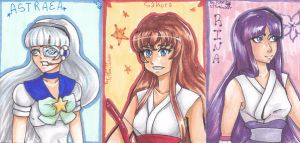 CM:sailorsungoddess (ACEO's) by lilYumi-chan